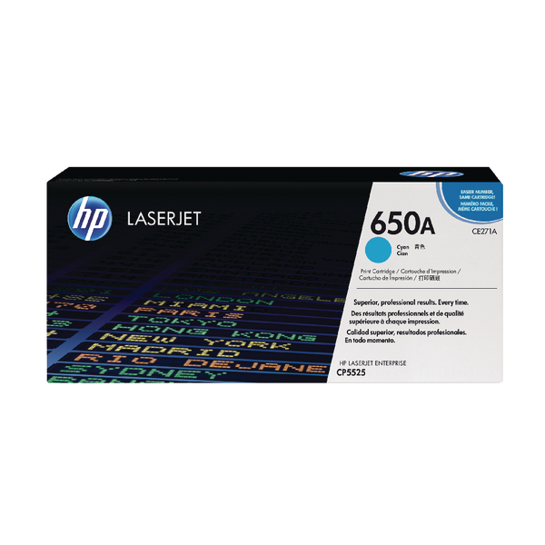 HP 650A (CE271A) CARTUS TONER COLOR CYAN