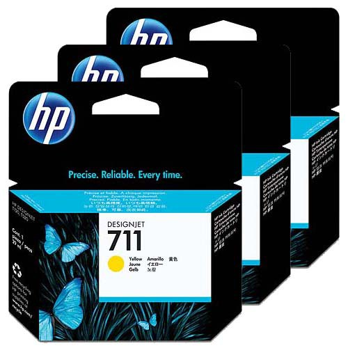 HP-711--CZ136A--SET-DE-3-CARTUSE-YELLOW